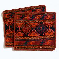Pair of Azarbaijan Kilim cushions